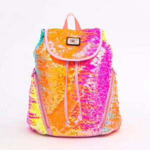 Cute Girl's Backpack for School sequin Backpack drawstring Schoolbag