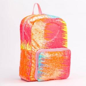 Backpack Sequin bling School Bag Cute Glitter Book Bag Travel Daypacks for Women Kids Girls