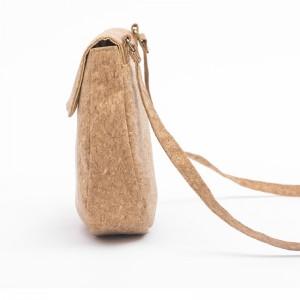 Waterproof Thick wood-grained Paper Natural Lady Sling Bag Cute Cross body Makeup Bag