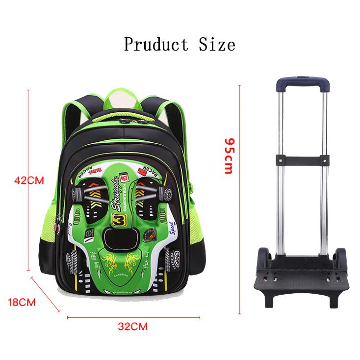 Good Quality School Bag - Detachable 3D car trolley child bag, boy burden bag, primary school backpack – Twinkling Star