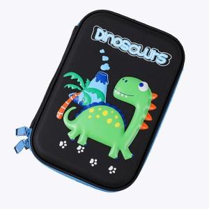 New Design Shockproof and Waterproof Zipper 3D Cartoon Dinosaur EVA Pencil Case