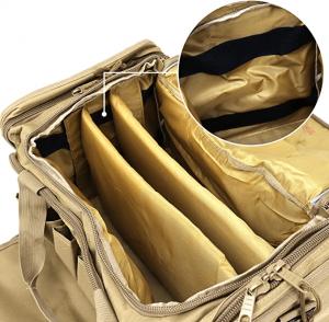 Tactical Travel Duffel Range Bag for Handguns and Hunting
