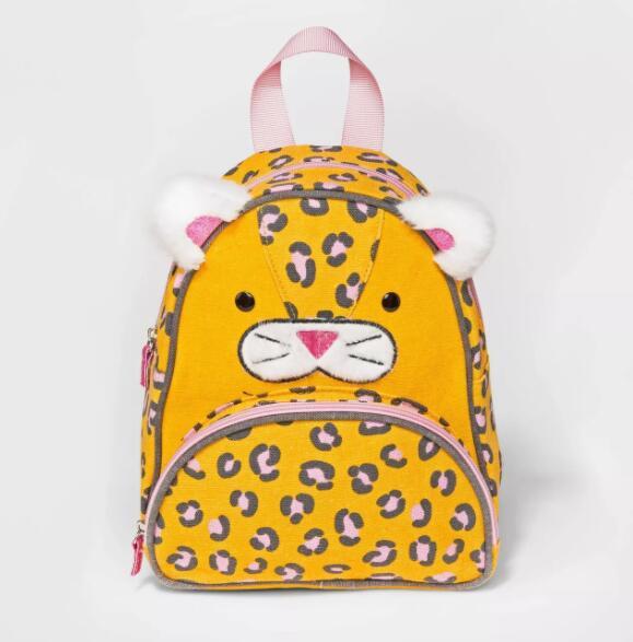 Cotton Canvas Kettle Kid Backpack Harness Reins Toddler Bag Tiger Face bag Featured Image