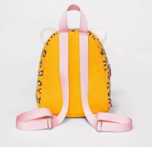Cotton Canvas Kettle Kid Backpack Harness Reins Toddler Bag Tiger Face bag