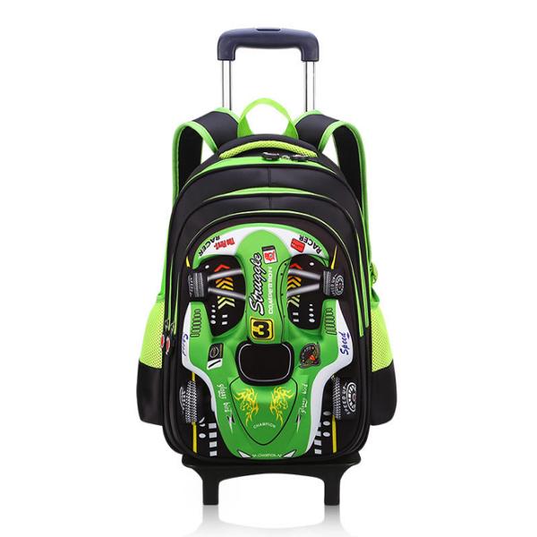Good Quality School Bag - Detachable 3D car trolley child bag, boy burden bag, primary school backpack – Twinkling Star Featured Image